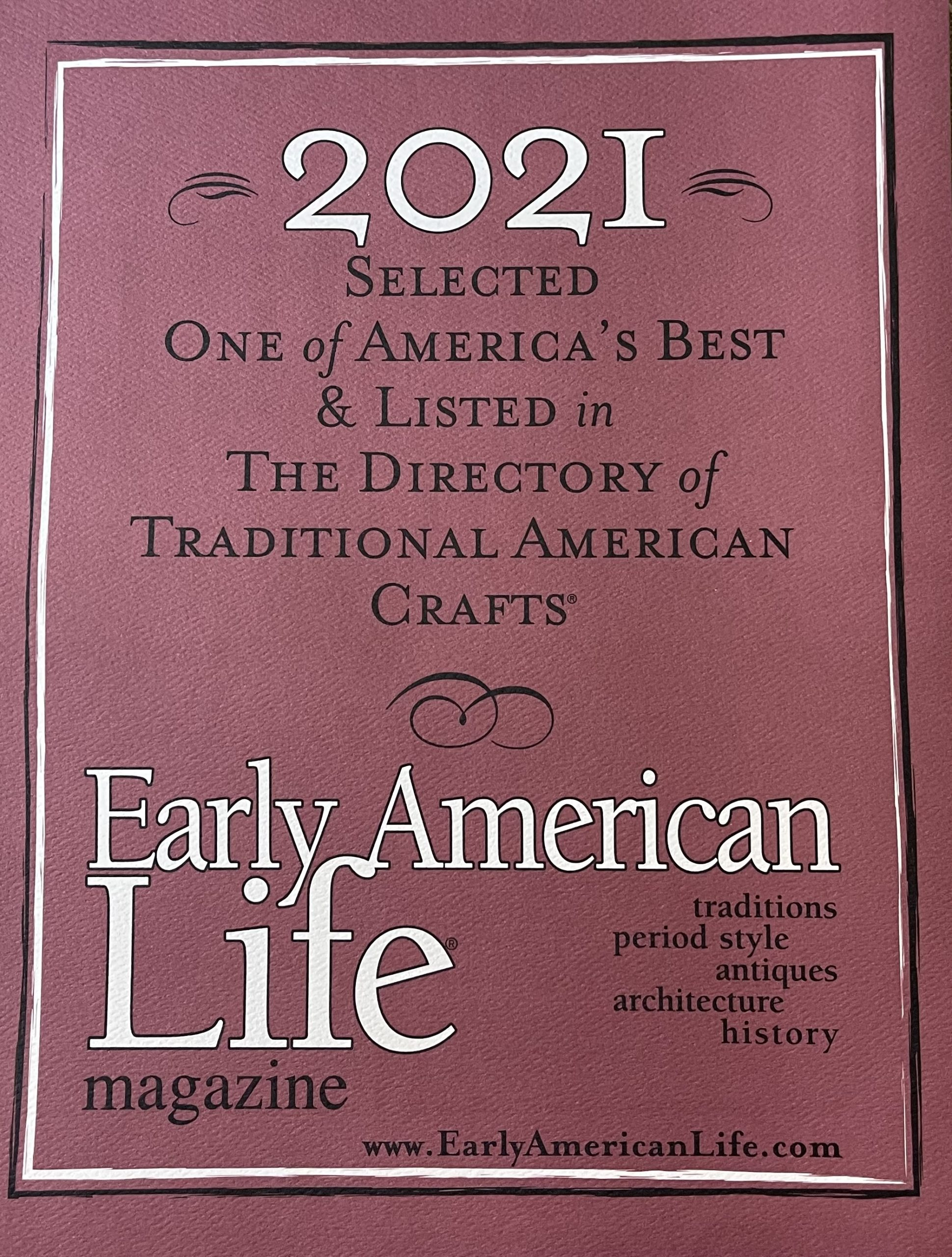 Directory of Tradition American Craft for Early American Life magazine.