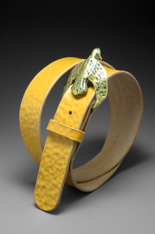 Handmade leather belt by Diane Louise Paul.